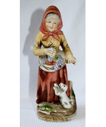 HOMCO Home Interiors & Gifts - Old Lady Holding Fruits on Her Mandrill -... - $14.99