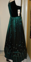 Vtg Donna Morgan velvet Pageant PROM Show Evening Dress long Gown sz 14 NWT $230 - $79.99