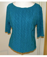 APT. 9 Women's Petite PS LS Brown Paisley Crinkled Bell Sleeves Blouse T... - $9.99