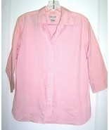Size M - Cherokee Pink & White Gingham Short Sleeve Shirt w/Front Pocket - $25.64