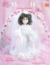 "WEDDING DAY CROCHET 14""  DOLL CLOTHES PATTERN 8405 AMERICAN SCHOOL NEEDL... - $8.99"