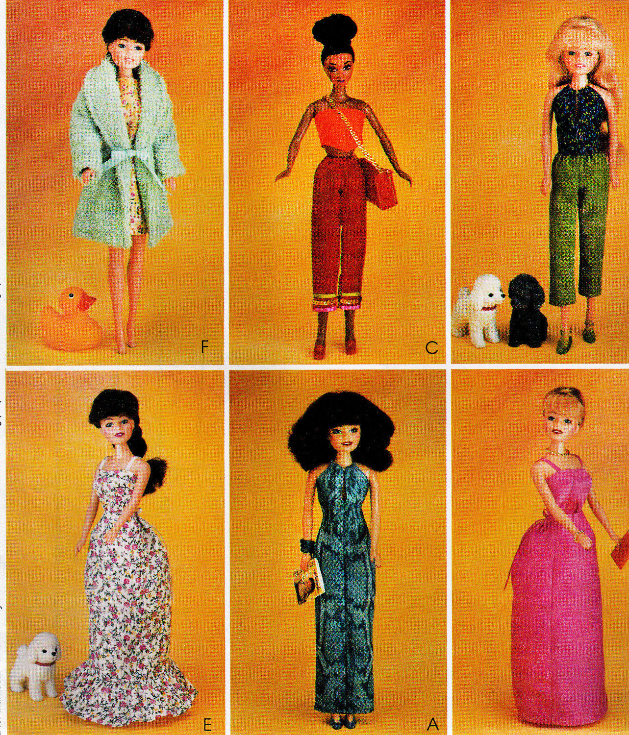 "Primary image for 11.5"" BARBIE DOLL DRESS, CAPRI CAMISOLE, SKIRT BUSTLE+ MCCALL 3276 PATTERN UNCUT"