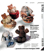 BASKET BUDDIES- CAT BEAR BUNNY OOP MCCALLS 5792 CRAFTS SEWING PATTERN UNCUT - $13.98