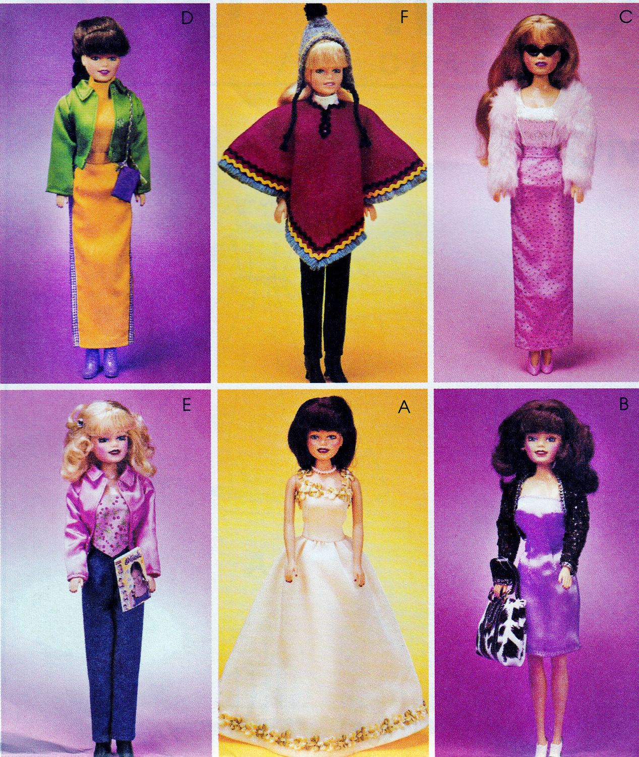"Primary image for 11.5"" BARBIE DOLL DRESS, SHRUG, JACKET, SKIRT + MCCALL 3041  OOP PATTERN UNCUT"