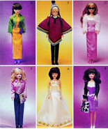 "11.5"" BARBIE DOLL DRESS, SHRUG, JACKET, SKIRT + MCCALL 3041  OOP PATTERN UNCUT - $13.98"