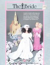 "THE BRIDE CROCHET W BEADS! 11.5"" FASHION DOLL CLOTHES FIBRE CRAFT  PATTE... - $7.99"