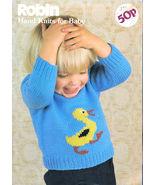 ROBIN BABY HAND KNITS 15 EXCLUSIVE DESIGNS BABY - TODDLER U.K. PATTERN B... - $9.98