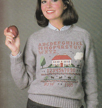CROSS STITCH THE SWEATER BOOK LEISURE ARTS #375 COUNTRY DESIGNS - $6.98