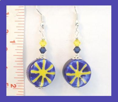 Star, Moon, & Sun Earrings w/ Swarovski Crystals