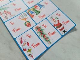 Retro Christmas Gift Label Sheet image 2