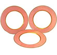 Retired Set of 3 Fitz and Floyd Renaissance Peach Dinner Plates 10-3/8 Diameter - $119.99