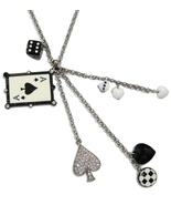 Dice Card game Mod Charm Necklace - $24.00
