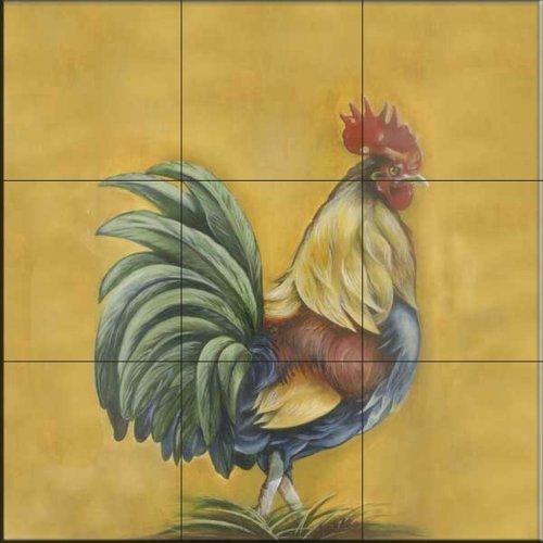 rooster 3 by joelle goff kitchen backsplash bathroom