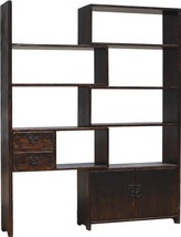 Display Shelf SARREID Expanding Antique Black Iron Old Pine - $5,569.00