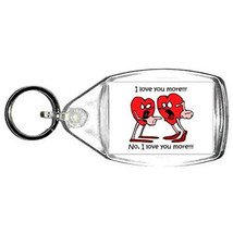 keyring double sided ,i love you more , keychain, keyfob novelty funny new