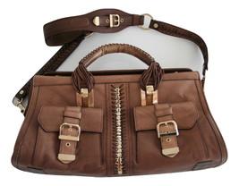Versace Brown Leather Braid Bag - $180.00