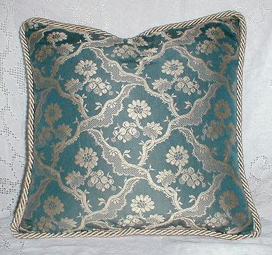 Elegant Silk Brocade Pillow