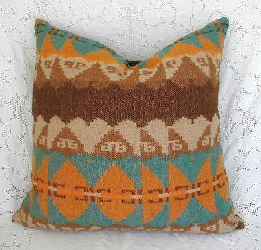 Vintage Wool Camp Blanket Pillow