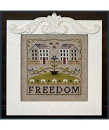 Freedom House cross stitch chart Little House Needleworks - $7.20