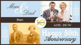 Wedding Anniversary Custom Banner with Photos - $39.95
