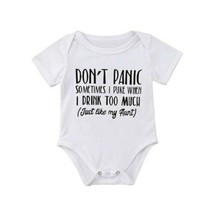 Funny Newborn Baby Girls O-Neck Short Sleeve Letter Printing Bodysuit Su... - $8.49