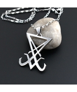 Seal of Lucifer Stainless Steel (316L) Necklace Men Pendant - $15.99