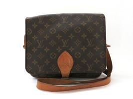 Authentic LOUIS VUITTON Monogram Canvas Leather Cartouchiere GM Cross Body Bag - $281.27