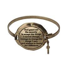 Inspired Silver Gold Cross Charm Serenity Prayer Engraved Inspirational ... - $24.45