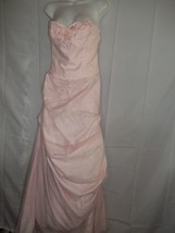 Size 8 Pink David's Bridal Nylon, Netting,Satin Wedding Bridemaids Dress - $89.09