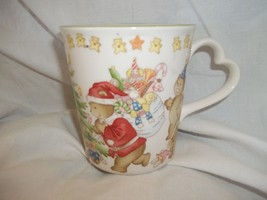 Nikko Japan China Christmas Decoration Cup Mug Teddy Bears Clowns Tree Stars - $15.83