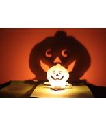 Halloween Tea Light Garden Lantern Wooden Indoor outdoor decor Pumpkin S... - €7,22 EUR