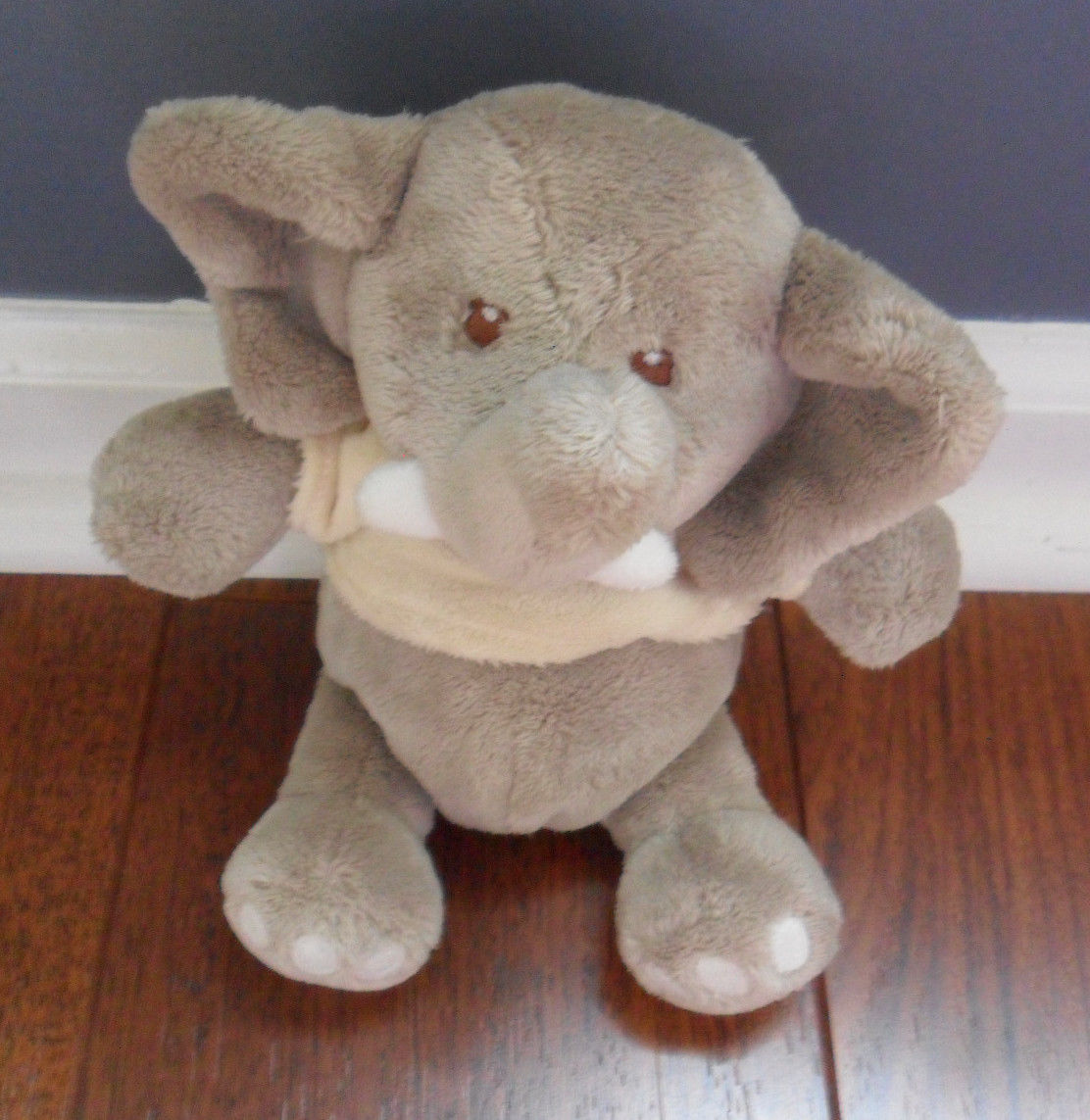 Primary image for Baby Ganz Elephant Gray Plush Rattle Stuffed Animal Toy 9""