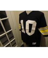Vtg 90s Black Pittsburgh Steelers 10 Kordell Stewart NFL Screen Jersey L... - $39.55