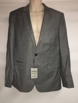 Express Blazer Suit Jacket Mens 42 Long Gray Photographer Fitted NWT  - $120.94