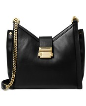 NWT MICHAEL MICHAEL KORS WHITNEY SMALL LEATHER CHAIN SHOULDER BAG BLACK/... - $164.47