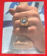 1985 WORLD CHAMPS KANSAS CITY ROYALS MLB BASEBALL MAGAZINE Free Shipping... - $9.18