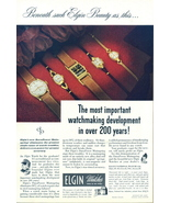 1947 Elgin watches watchmaking development print ad - $10.00