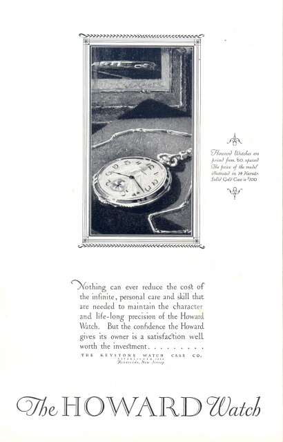 1926 The Howard Watch vintage timepiece print ad