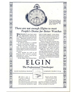 1923 Elgin Corsican pocket watch vintage timepiece print ad - $10.00