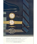 1967 Hamilton Thinline men watches shoe & tie print ad - $10.00