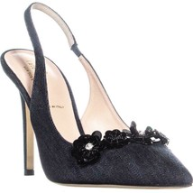 Kate Spade New York Leighton Sling Back Pumps, Denim Indigo, 9 US - $175.67