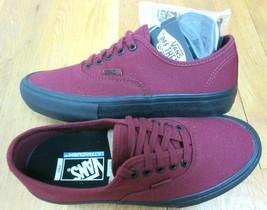 412a5e1a93 Vans Mens Authentic Pro Cabernet Red Black Canvas Skate Boat shoes Size ...  -