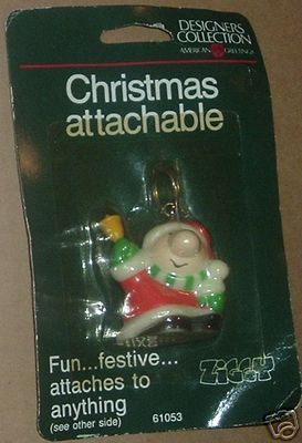 Vtg 1985 ZIGGY Christmas Attachable on Card
