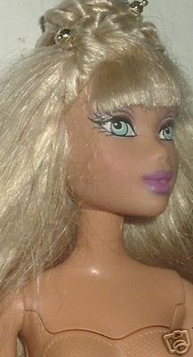 MY SCENE Barbie Doll blonde hair nude detachable head