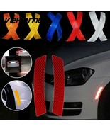Safety Reflective Warning Strip Tape For Car Weather Resistant 2pcs 14cm... - $6.99