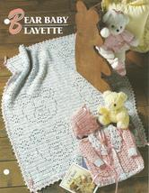 Bear Baby Layette Crochet Pattern~Annie's Q & A Club Pattern - $14.99