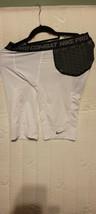 Nike 401934 101 Pro Combat HyperStrong Hip Tail Football Shorts White Sz Medium - $27.72