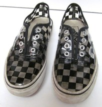 VANS Off the Wall VINYL CHECKERBOARD SNEAKERS SHOES MENS 4 WOMEN'S 5.5 RARE - $59.35