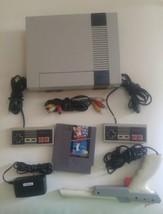 Nintendo NES Console Video Game System Complete Super Mario Bros Duck Hu... - $79.26