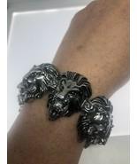 Vintage Style Leo Lion Bracelet Stainless Steel Mens - $99.00